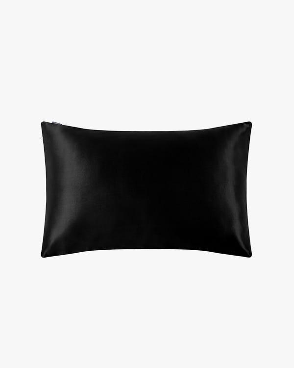 25 Momme Terse Luxury Pillowcase with Hidden Zipper Black Standard