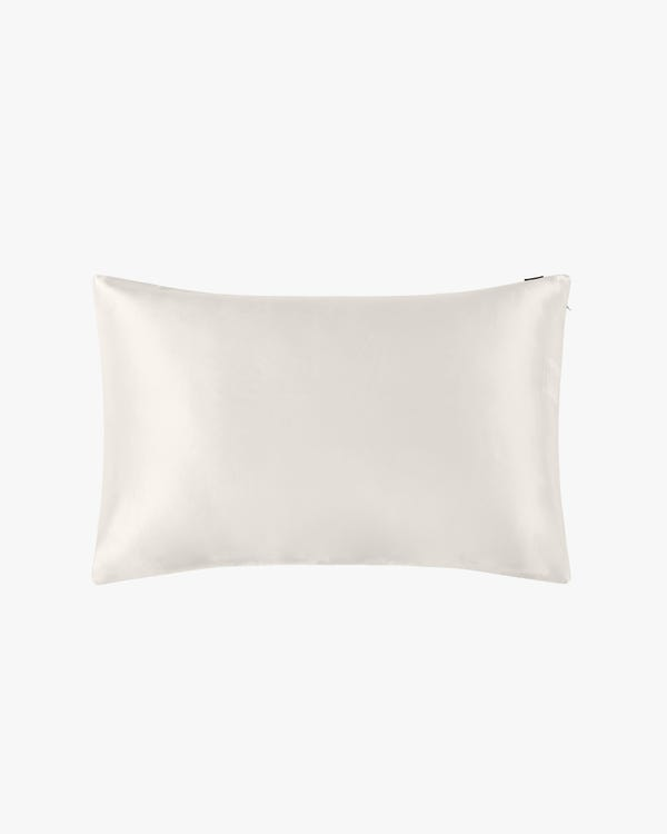 25 Momme Housewife Luxury Pillowcase with Hidden Zipper Ivory 30x40cm