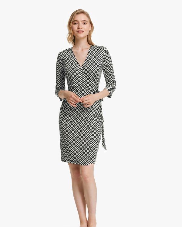 Pattern Print Silk-Knit Dress
