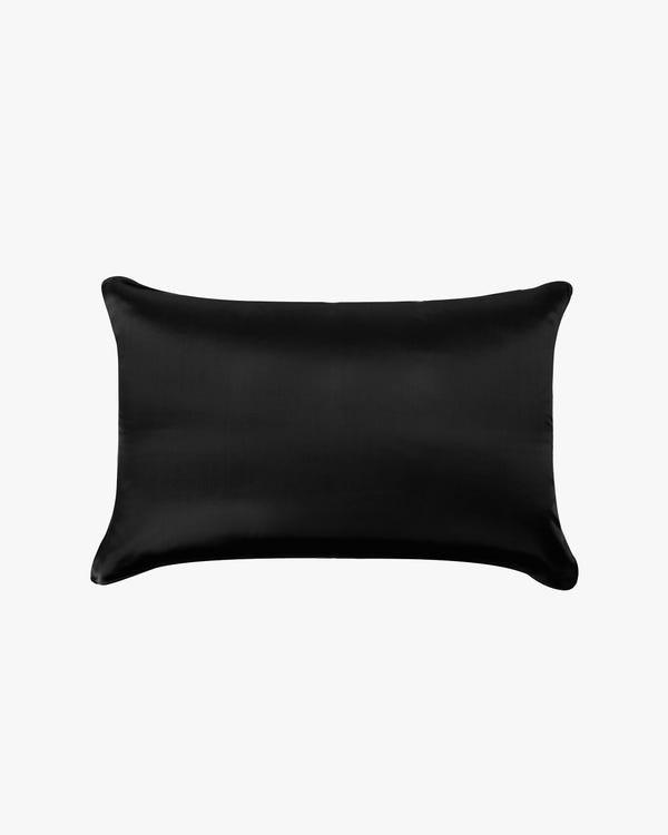 19 Momme Zijde Kussen Doek Zwart 40x60cm
