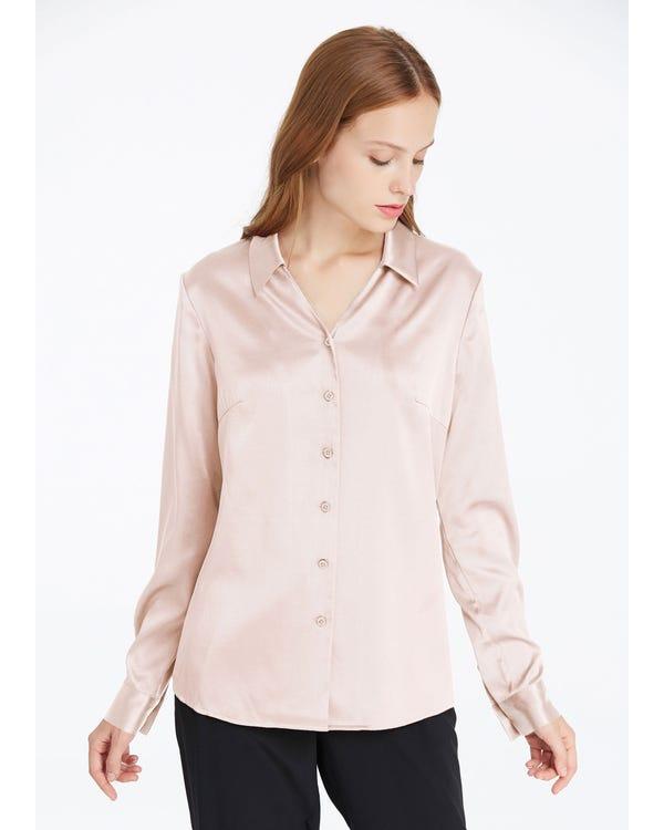 Braderie V Neck Work Wear Silk Blouse XXL