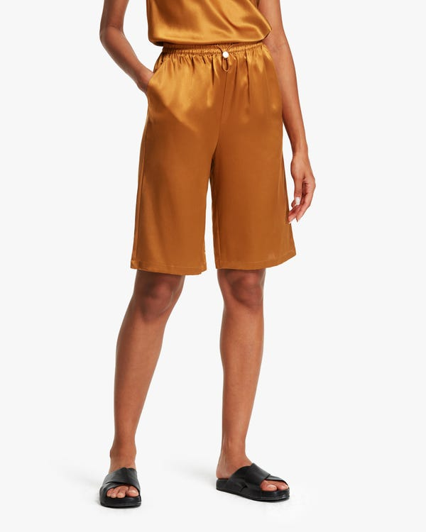 Relaxed Silk Shorts For Summer