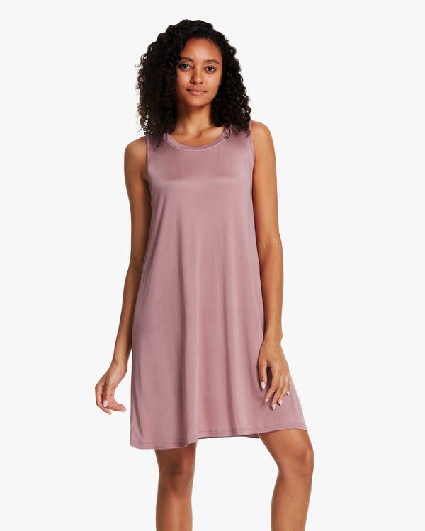 Tank Top Silk-Knit Sleep Dress