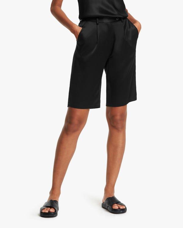 Pantalones de Seda de Traje Cortos para Mujeres
