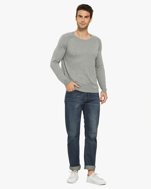 Silk Cashmere Blend Sweater For Men