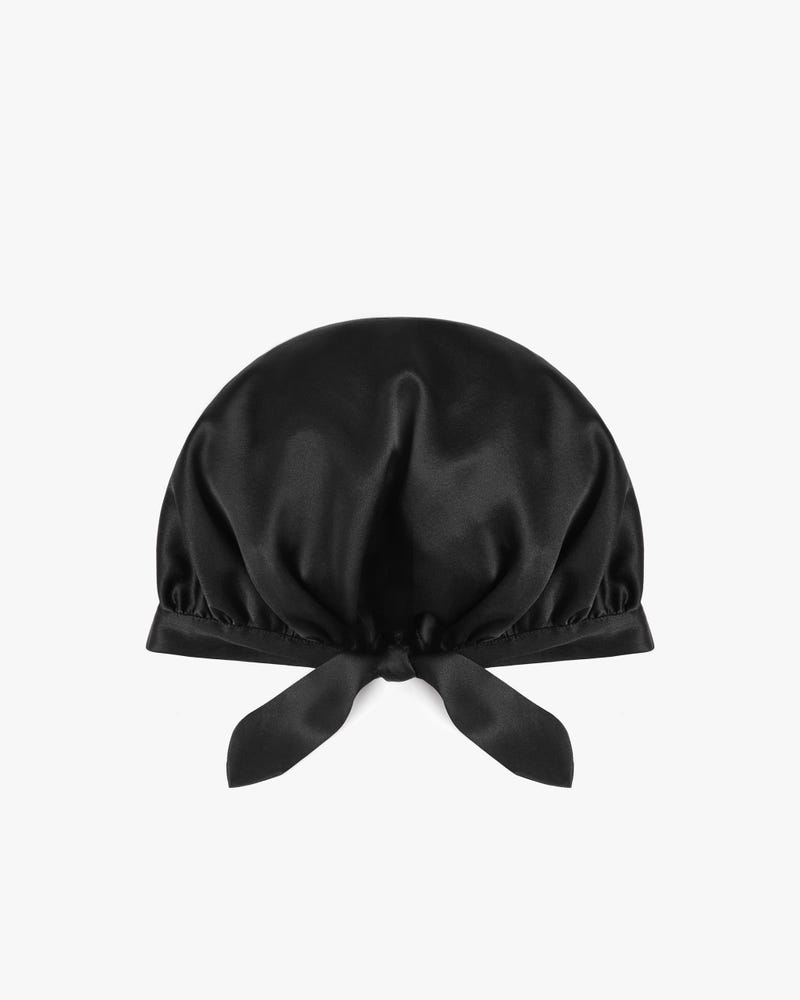 19 Momme Classic Silk Sleep Cap with Ribbons