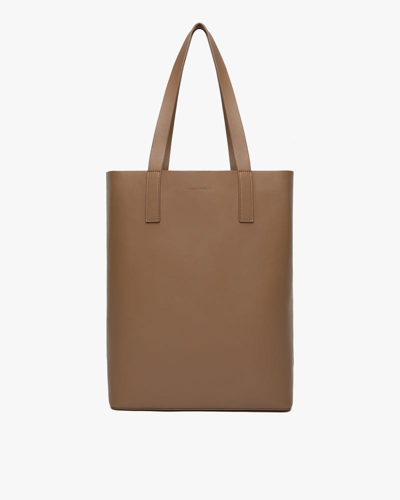 The Leather Vertical Tote Bag