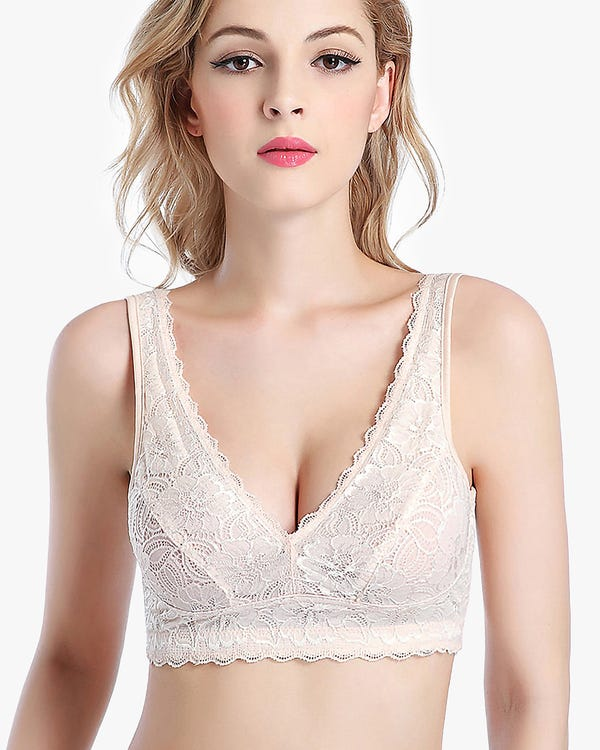 Lacy Breathable Silk Bra Vest