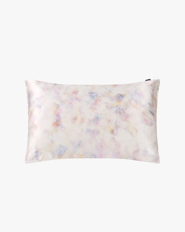 19 Momme Print Silk Pillowcase with Hidden Zipper-hover