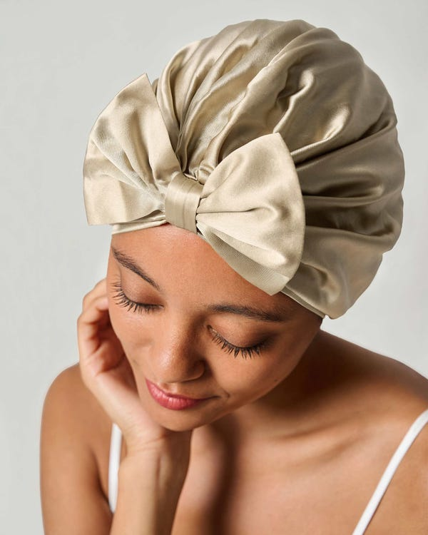 Vintage Bow-Knot Sleep Cap-hover