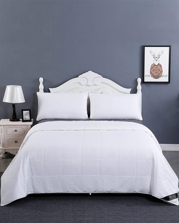 Seide Füllung Bettdecke Mit Baumwolle Hülle Weiß Waschbar-hover