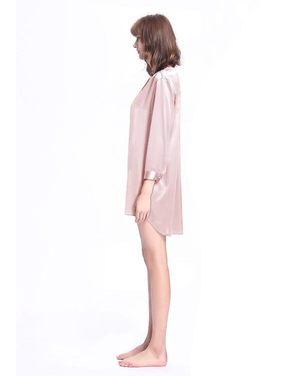 22 Momme Elegant Silke Natskjorte-hover