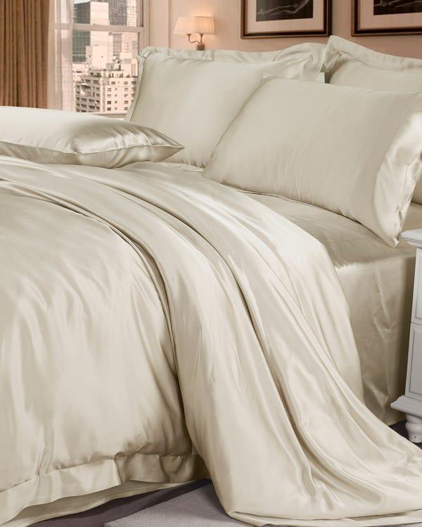 22MM 3PCs Silk Duvet Cover Set