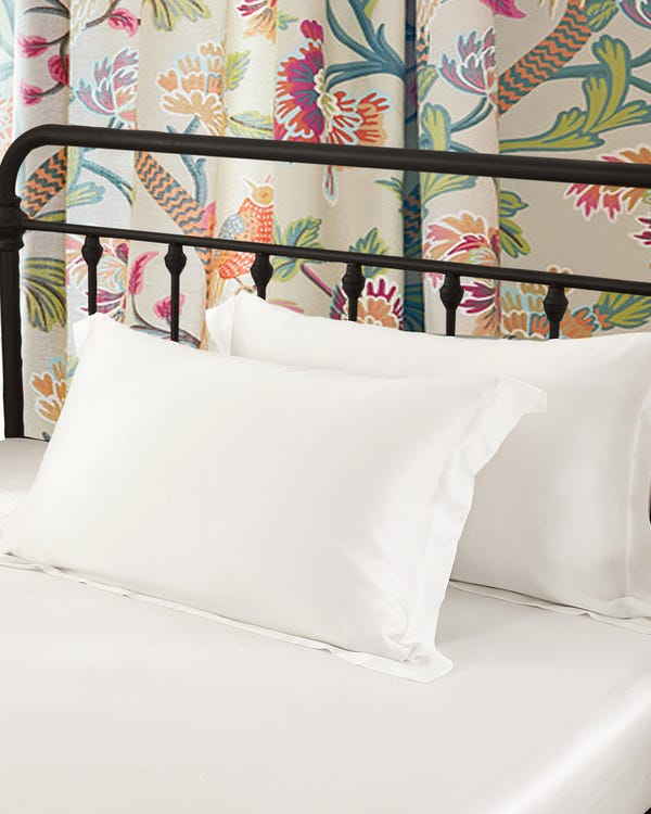 19 Momme Oxford Silk Pillowcase Ivory 30x40cm-hover
