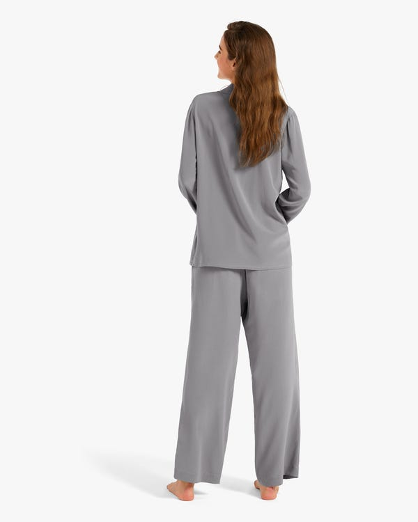 18 Momme Classic Silk Pajamas Set for Women-hover