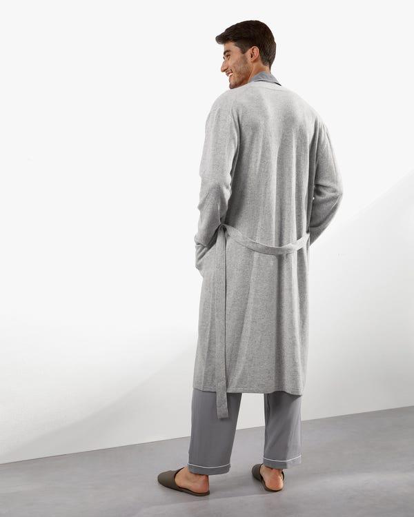 Bata de Punto de Cachemir Puro para Hombre-hover