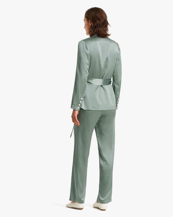 Premium Belted Women silk Blazer-hover