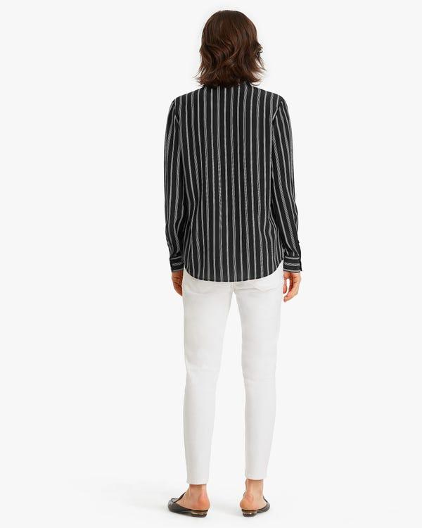 Classic stripes Printed Women Shirt Chic-White-Stripes XXL-hover