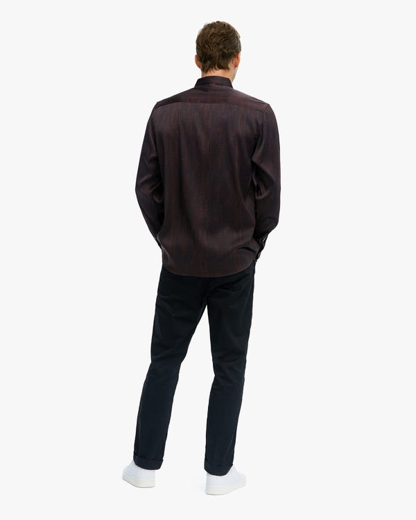 Spezielles Muster Premium Seide Herren Hemd red-w02 M-hover