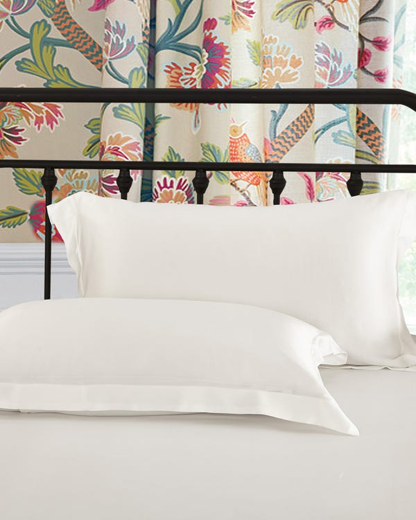 22 Momme Oxford Silk Pillowcase Ivory 30x40cm-hover
