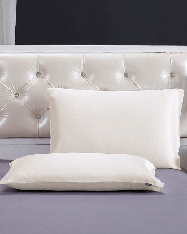 22 Momme Housewife Silk Pillowcase Ivory 30x40cm-hover