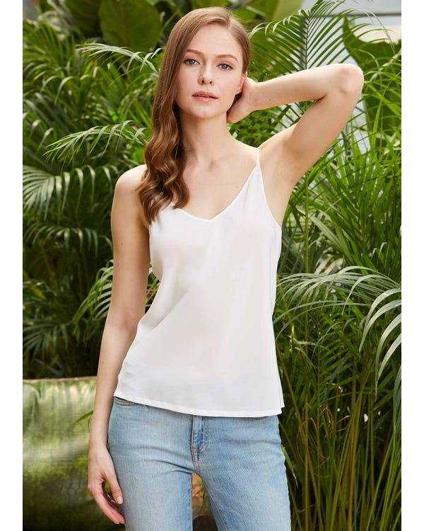 Natural White Basic Silk Camisole Natural White XXL-hover