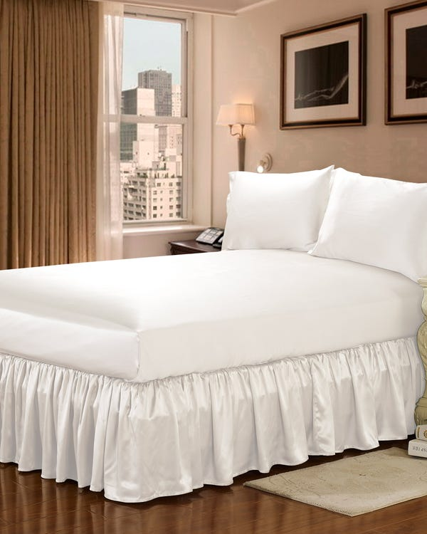 19 Momme Silk Bedskirt Ivory Cal.King-hover