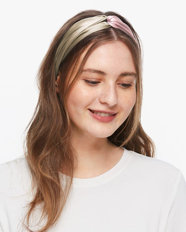Contrast Color Silk Hair Accessories Set
