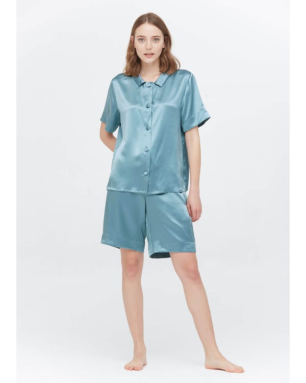 22 Momme Sweet Silk Short Pajamas Set-hover