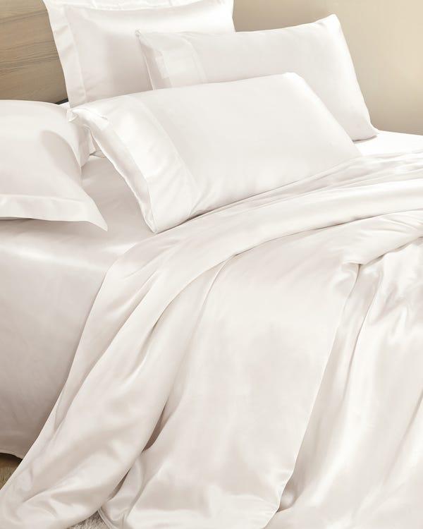 25 Momme nahtlos Seide Bettbezug Elfenbein 200x200cm-hover