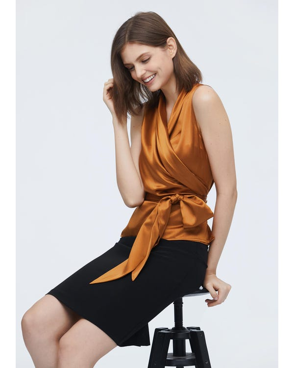 Clearance 22 Momme Lapel Collar Long Silk Robe XL