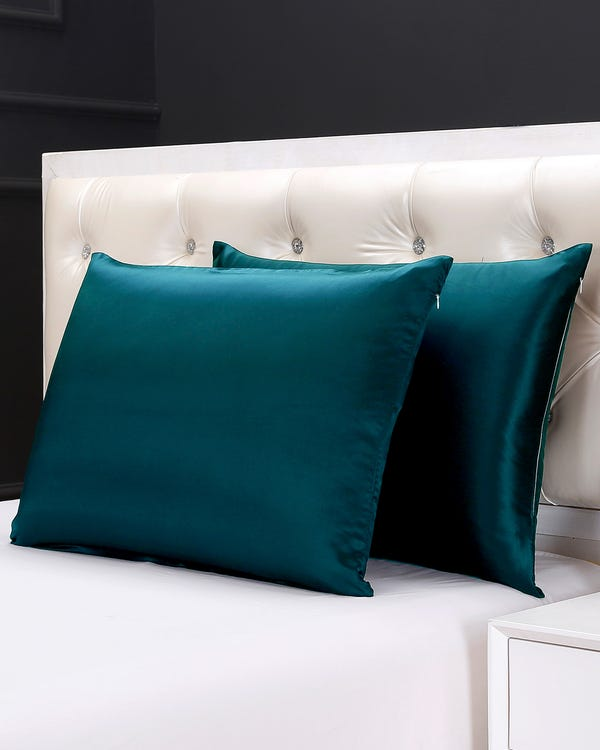 19 Momme Housewife Silk Pillowcase with Hidden Zipper-hover
