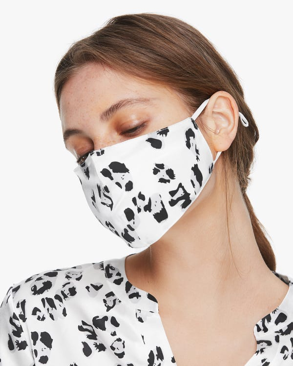Chic Double-Layer Silk Face Mask Snow-Leopard 1-Pack-hover