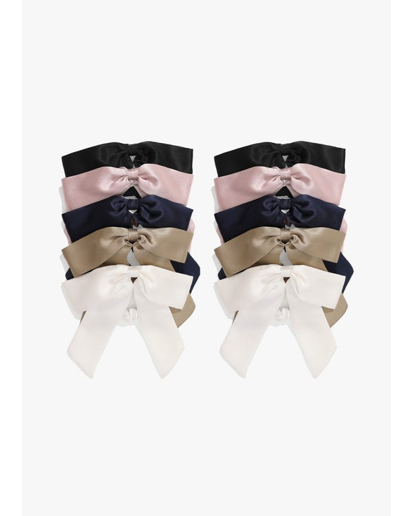 Lovely Bowknot Silk Scrunchie