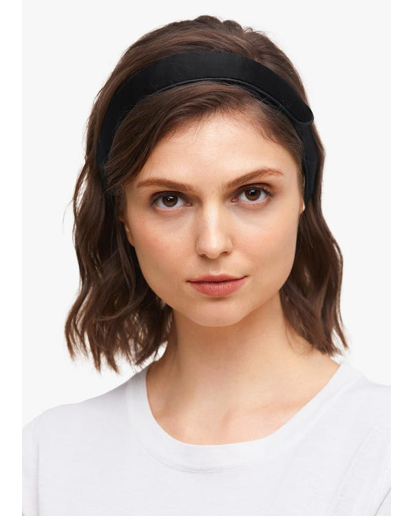Velcro Adjustable Silk Headband-hover