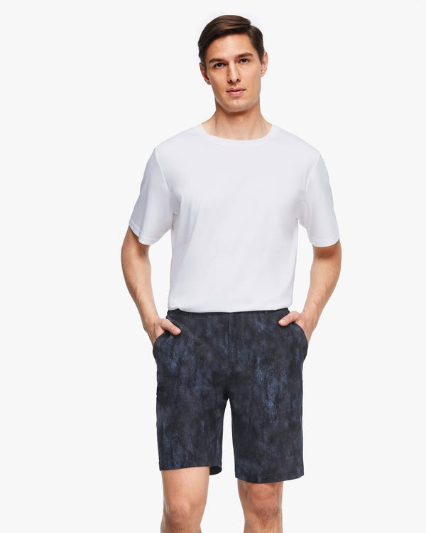 Air Pollution Smog Print Men Shorts-hover