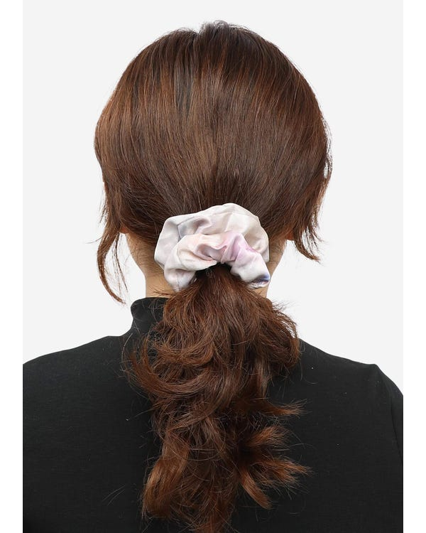 4 Pack Different Silk Hair Scrunchies Set-hover