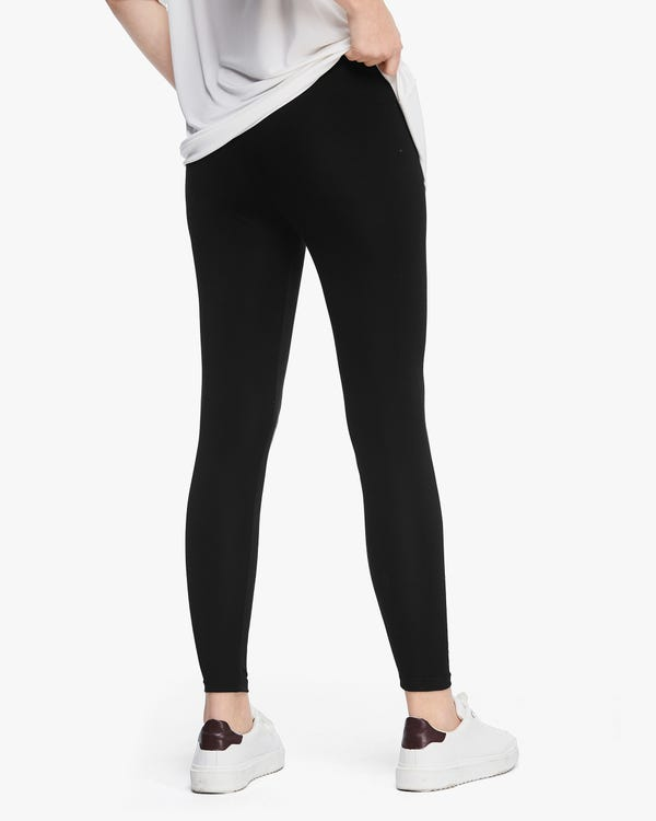 Comfortable Stretch Silk Leggings-hover