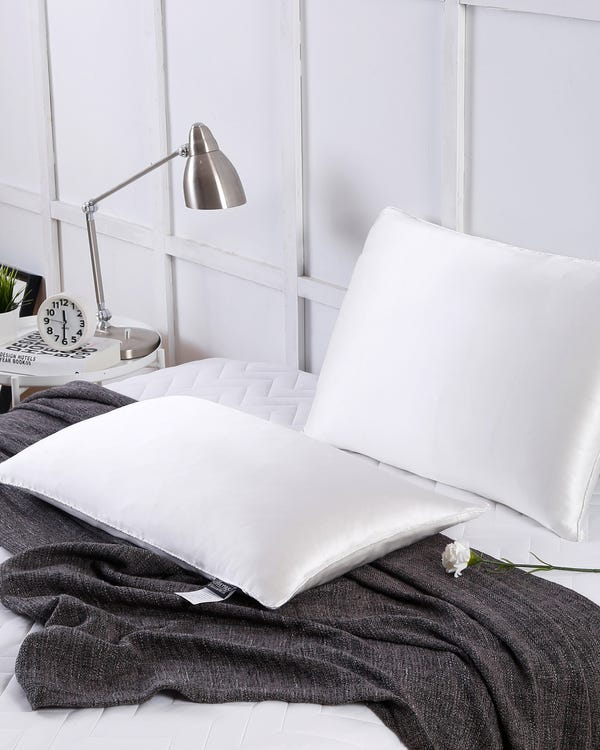 Silk Covered Silk Pillow-hover