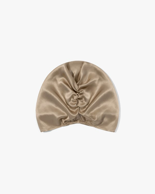 Classic Pleated Silk Sleep Cap-hover