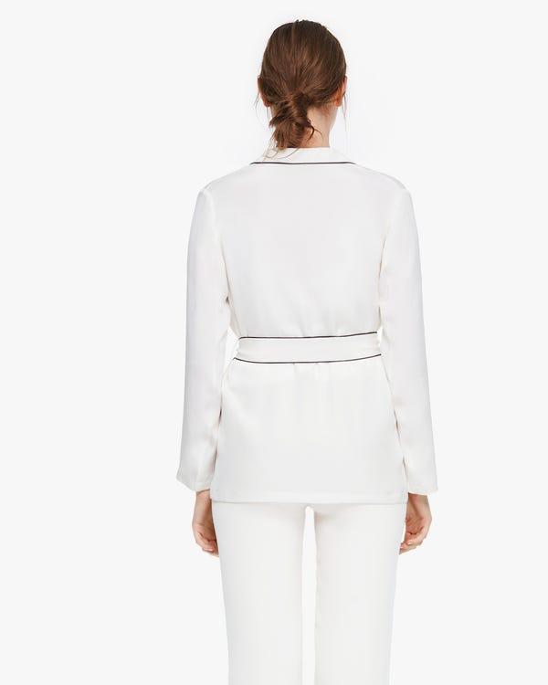 Capispalla in seta stile pigiama vintage-hover