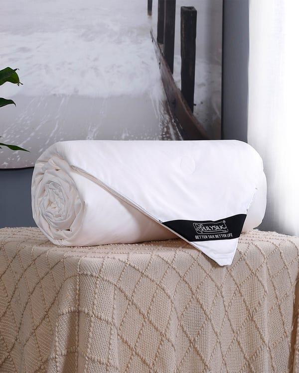 Sommerdecke Seide Bettdecke Steppdecke mit Baumwolle Hülle 200x200cm-hover