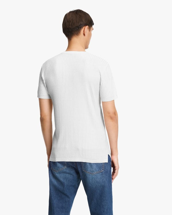 Jacquard Silk Knit Men T-shirt-hover