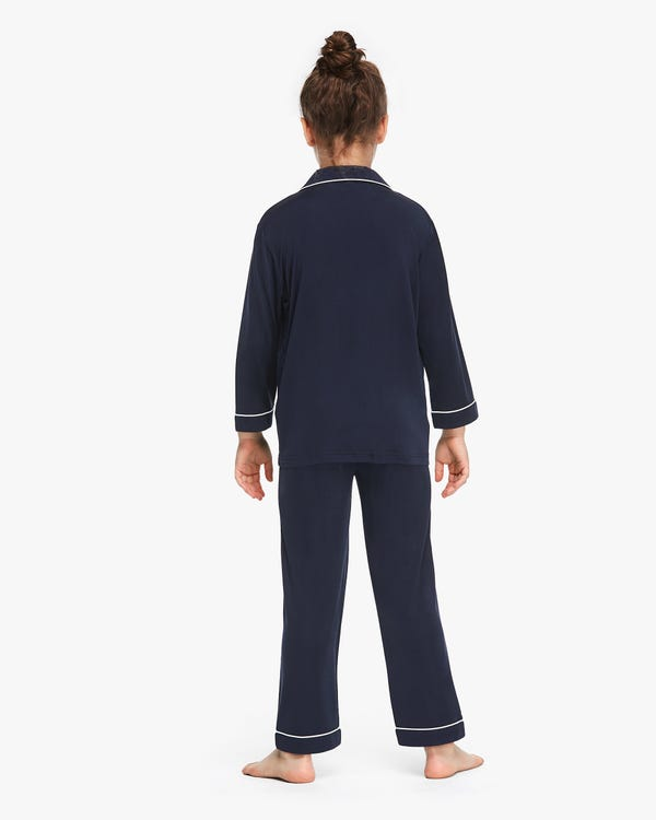 Long Sleeve Kids Silk Knitted Pyjamas-hover