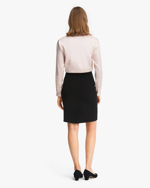 Classic Silk Business Shirt For Women-hover