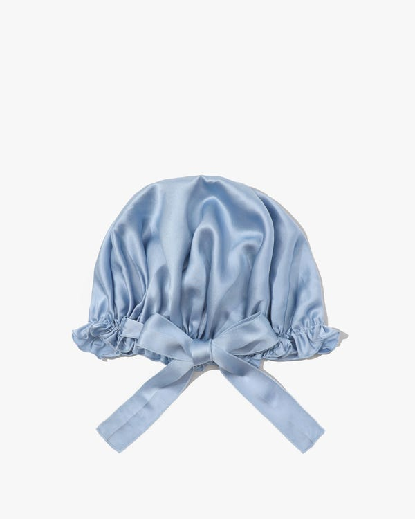 Silk Night Sleeping Cap with Ribbons-hover