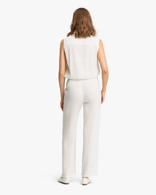 Strukturierte Seide Frauenhose-hover