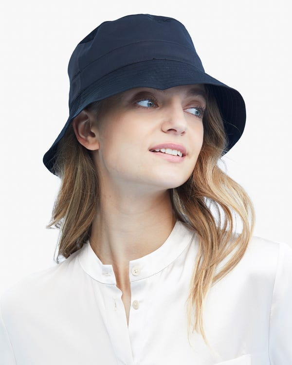 Womens Pure Silk Bucket Hat