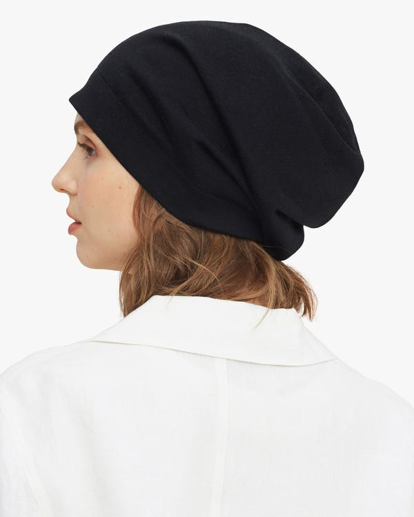 Adjustable Silk Knitted Bonnet-hover
