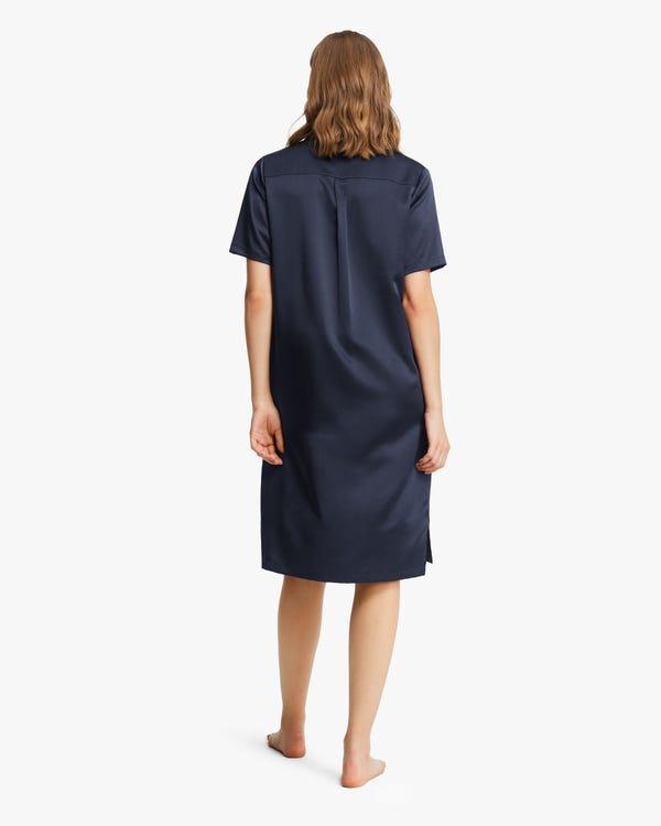 Pure Silk Women Sleep Shirt-hover